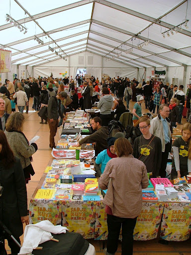 Helsinki Comics Festival – main tent at Lasipalatsi Square