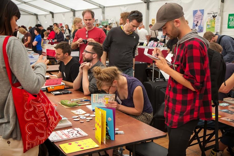Julie Delporte et Michael DeForge Helsinki Comics Festival